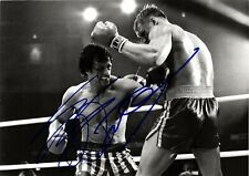 Sylvester Stallone - Dolph Lundgren (Rocky IV), Dual Hand Signed A4 Photo.
