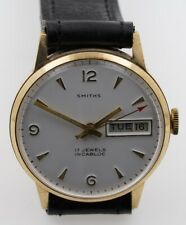 SMITHS 17 JEWEL DAY DATE 9CT GOLD CASED AUTOMATIC GENTS WRISTWATCH