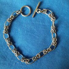 Sterling Silver Toggle Bracelet CELTIC