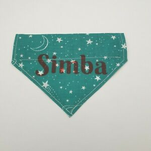 Personalised Handmade Dog Bandana slide over collar, slide on, Neckerchief