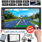 "Map+7"" HD 2 Din Bluetooth Car In-Dash GPS Navi Radio Stereo MP5 TV CD DVD Player"