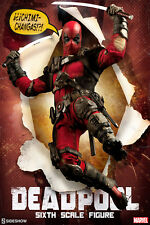 DEADPOOL / WADE WILSON~SIXTH SCALE FIGURE~MARVEL COMICS~SIDESHOW~MIB