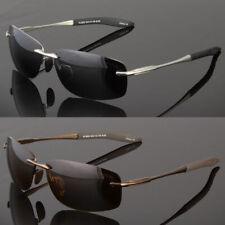 Men's Rimless Polarized Sunglasses UV400 Outdoor Sports Driving Glasses Eyewear