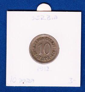 10 Para 1912, Serbia coin,  King Milan I, Copper-nickel !