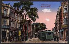 42677 AK Wilhelmshaven Bismarckstraße Straßenbahn 1916