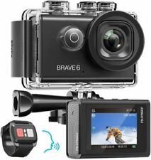 AKASO Brave 6 Action Camera WiFi 4K Full HD 20MP Voice Control 98FT WATERPROOF