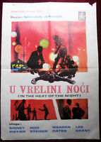 1967 Original Movie Poster In The Heat of Night Norman Jewison Sidney Poitier