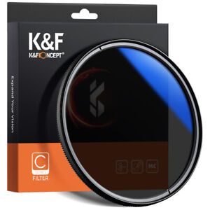 K&F Concept Circular Polarizing Filter CPL 37mm to 82mm Ultra Slim Multi Coated