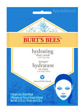 Burt's Bees Hydrating SHEET MASK With Clary Sage: 1 x Single Use Masque