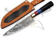 Custom Damascus steel BLADE KITCHEN KNIFE/CHEF KNIFE MICARTA,BONE HANDLE