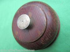 Sonnette de pied ronde électrique bois bouton métal ancienne