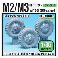 DEF. Model, US M2/M3 Half-Track affaissée Roue Avant Set, DW30026, 1:35