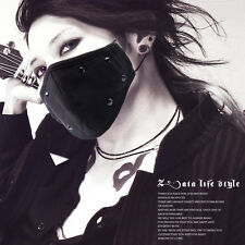 Black Rivet Punk Unisex 2 Cotton layers Face Mask Mouth Mask Muffle Protection