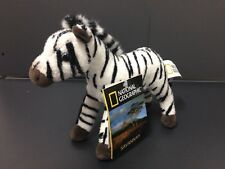 NATIONAL GEOGRAPHIC BABY PLUSH ZEBRA 15CM STUFFED ANIMAL TOY - BNWT