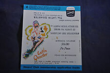 Ca 1958 The Latin Quarter Table Advertisement
