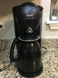 KRUPS 199 Aroma Control Programmable Coffee Maker Black 10 Cup Thermal Carafe