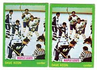 1X DAVE KEON 1973 74 Topps #85 EX Lots Available Maple Leafs
