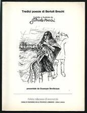 Tredici poesie di Bertolt Brecht - Presentate da Giuseppe Bevilacqua