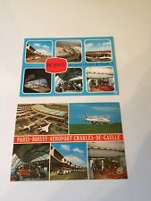 Air France Collectible Serious Collectors Only Two Charles De Gaulle Postcards