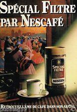Publicité advertising 1983 Le Café Nescafé Filtre