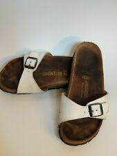 Womens Birkenstocks Madrid One Strap White Size 38 Flaw