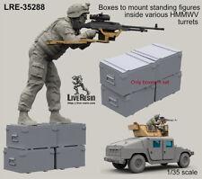 LIVE Resin, 1/35, LRE35288, scatole per montare in piedi FIG. all'interno vari hmmwvturret