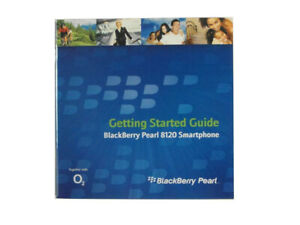 Genuine Blackberry Pearl 8120 Manual & CD Software NEW