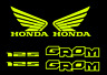 Honda GROM Decal Kit NEON YELLOW Sticker Motorcycle graphics decals stickers