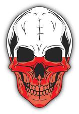 "Skull Flag Poland Car Bumper Sticker 4"" x 5"""