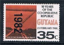 Guyana 1982 Overprint 35c Black & red orange SG 1001 MNH