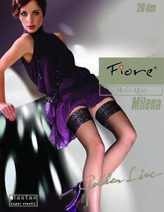 "Fiore ""MILENA"" Sheer Lace Top Hold-ups - 20 Denier"