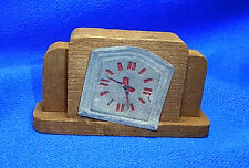 Vintage German Dollhouse Miniature Wood Clock #BN1