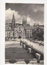 Burgos Cathedral & Arco de Santa Maria RP Postcard Spain  241a