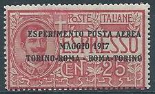 1917 REGNO POSTA AEREA ROMA TORINO MNH ** - RR3273-2