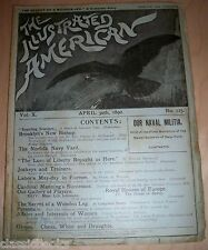 Illustrated American Magazine 1892 April 30th  MUSEUM FILED VG