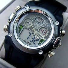 Ohsen Black Strap ALTime Analog Digital Dual Core Quartz Men Boy's Sport Watch