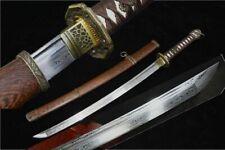 Military Japanese Army Sword Saber Sharp Folded Steel Samurai Katana Wakizashi