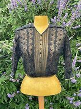 Ancien Haut de robe Caraco dentelle Corsage femme ANTIQUE VICTORIAN EDWARDIAN