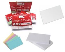 """100 CHALLENGE 8/"""" x 5/""""  Ruled Record Cards Assorted colours"""