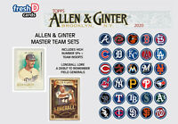 2020 Topps Allen & Ginter Master Team Set w/SP Inserts Chicago Cubs (20) Banks