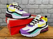 Nike De Las Señoras UK 5 EUR 38.5 Air 270 reaccionar Voilet Blanco Multi entrenadores RRP £ 140 E