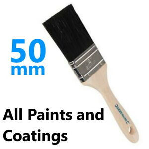 """50mm / 2"""" Paint Brush Varnish Emulsion Wood Stain Lacquer Gloss Fine - Synthetic"""
