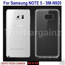 SAMSUNG GALAXY NOTE 5 CLEAR CASE - 0.8MM TRANSPARENT SLIM SOFT SILICON COVER