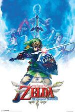 Zelda Skyward Sword Link Drawing NES Wii Video Game Poster 12x18 Poster - 12x18
