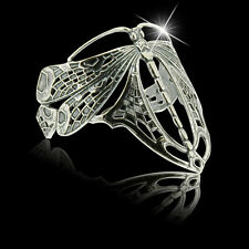 Jugendstil Art Nouveau Libelle Armreif 925er Silber Unikatschmuck - Neu