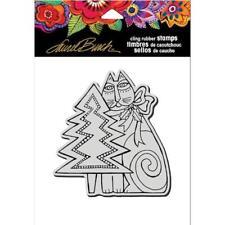 Stampendous Laurel Burch Cling Stamp - Feline Christmas LBCW013