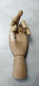 Gliederhand, Holzhand 25 cm bewegliche Modellhand, Links