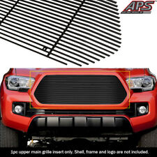 Fits 2016-2017 Toyota Tacoma Black Upper Grille Insert