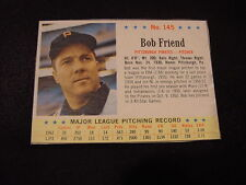 GORGEOUS 1963 Post Cereal #145 Bob Friend, Pittsburgh Pirates, NMMT!!