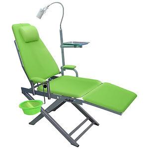 Portable Dental Chair LED Cold Light Cuspidor Tray Dentistry Mobile Dental Unit